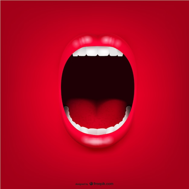 Scream mouth background Free Vector