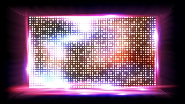 Screen cinema led Premium Vector