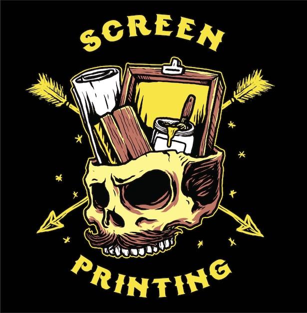Screen printing tools Premium Vector