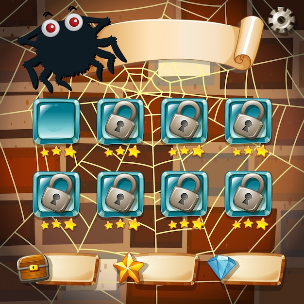 Screensaver of halloween theme game Free Vector