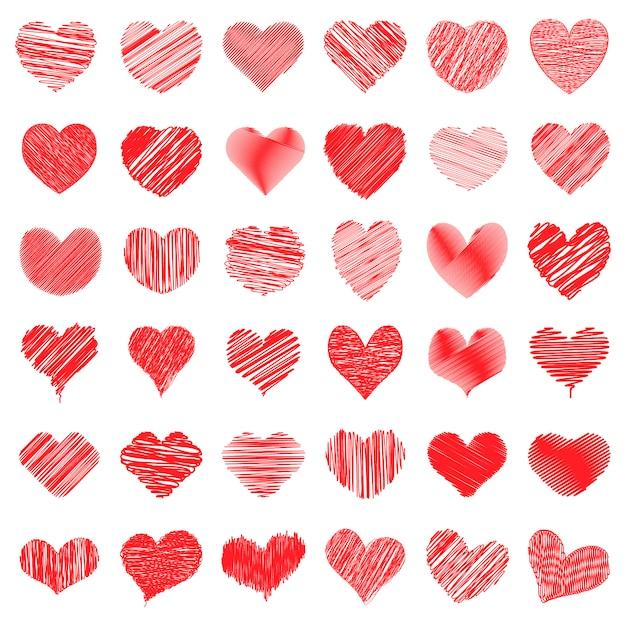 Форма сердца scribble Premium векторы
