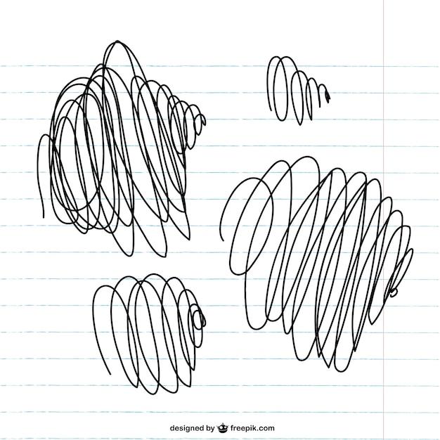 Scribbles on paper vector Free Vector