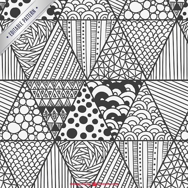 Seamless Scribble Pattern Stock Vector - Image: 51260825