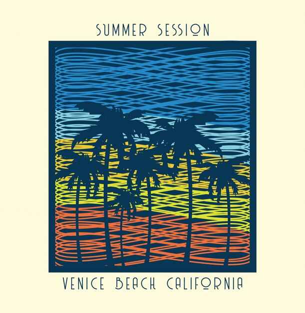 Scrible summer print Premium Vector