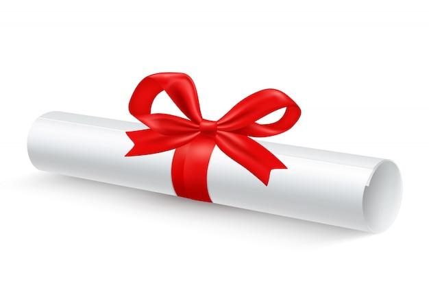 Scroll paper ribbon реалистичная Бесплатные векторы