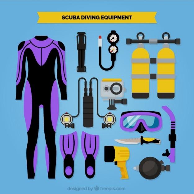 Attrezzatura subacquea Vettore gratuito