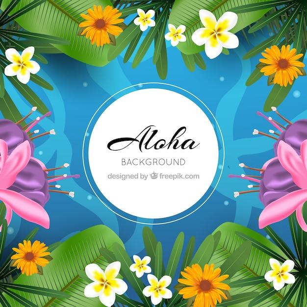Under the sea aloha background Free Vector