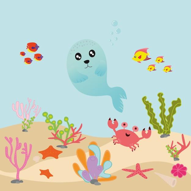 Морское животное Premium векторы