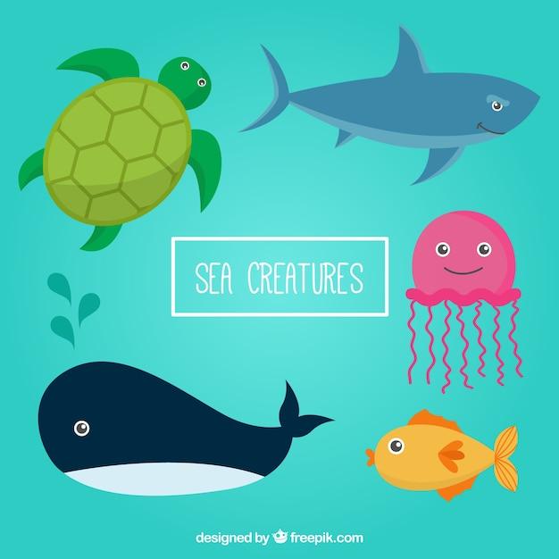 Animali di mare pacco Vettore gratuito