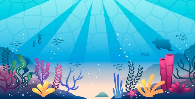 Sotto lo sfondo del mare per conferenza Vettore gratuito
