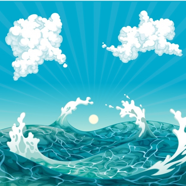 Sea background design Free Vector