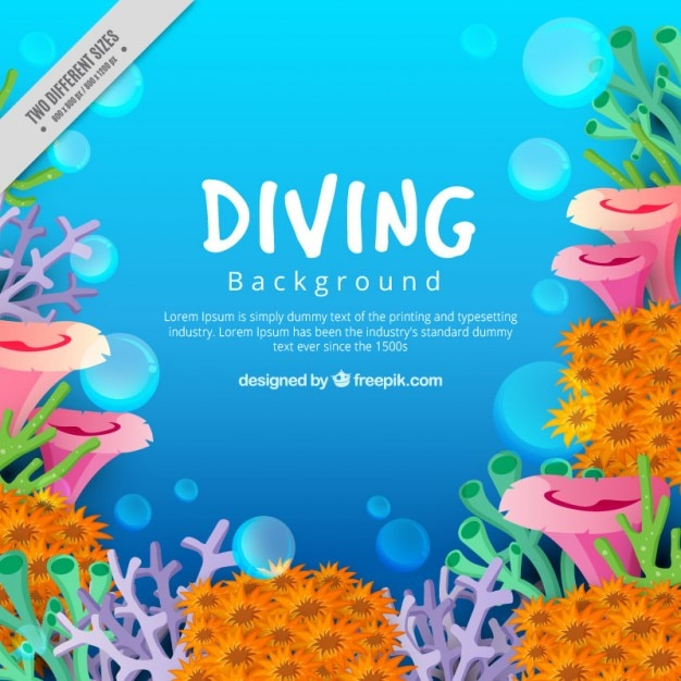 Under the sea background Free Vector