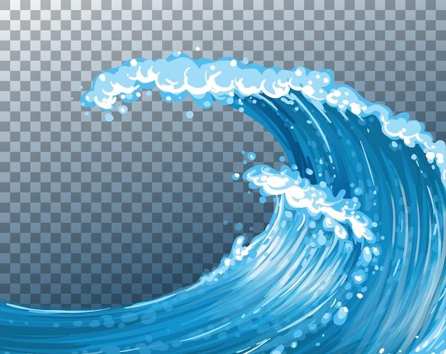 Sfondo trasparente onde giganti del mare Vettore gratuito