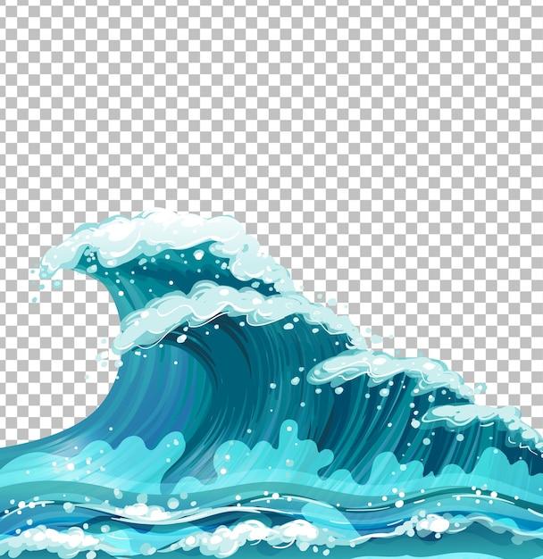 Морские гигантские волны Бесплатные векторы