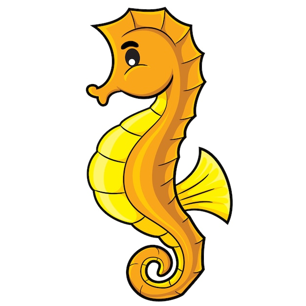 Sea horse cartoon Premium Vector