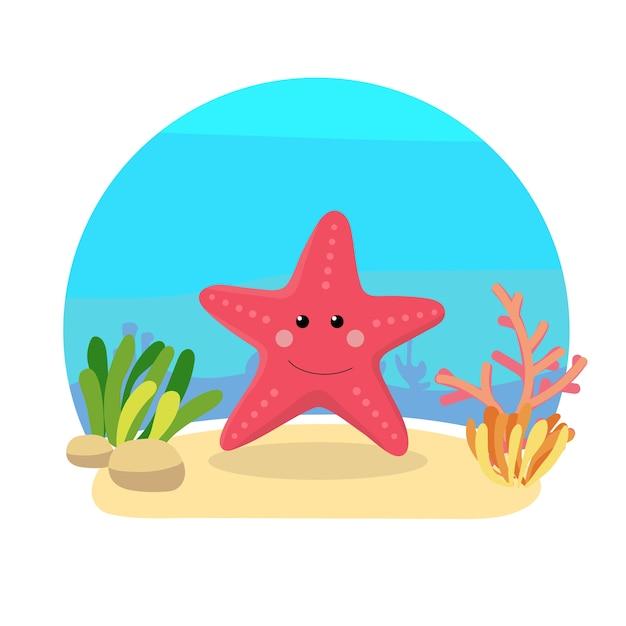 cute starfish cartoon