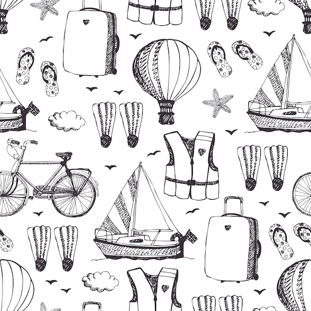 Sea vacation background Free Vector