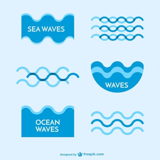 Sea waves logo templates Vector | Free Download