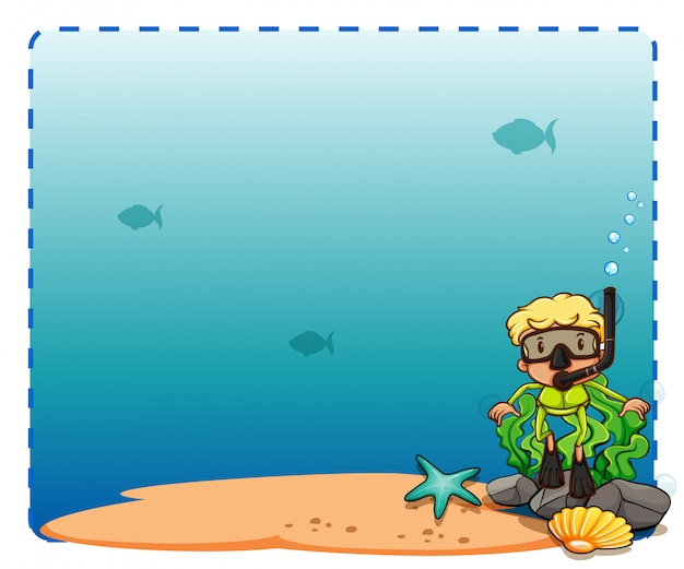 Seabed frame Free Vector