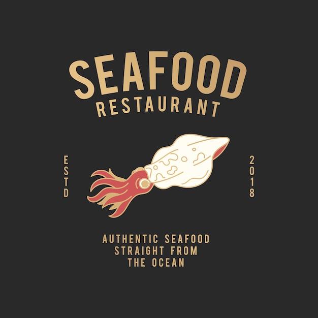 Seafood restaurant illustration Free Vector