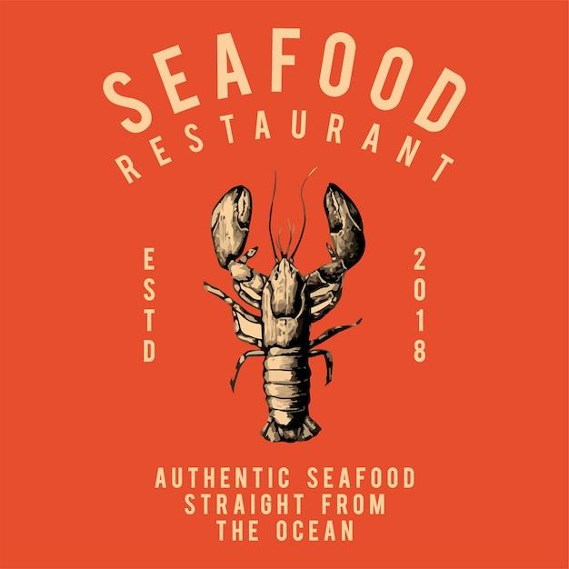 Seafood restaurant logo design vector Free Vector