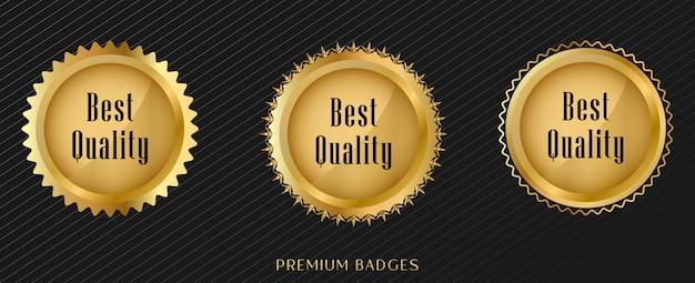 Набор наклеек seal gold Premium векторы