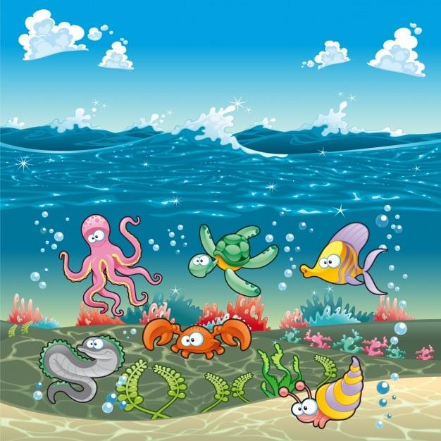 نتیجه تصویری برای ماهی و لاک پشت کودکانه