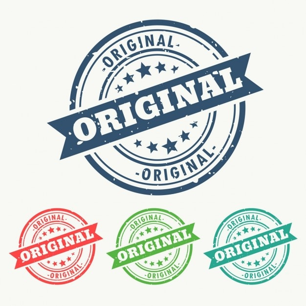 Seals for original things Free Vector