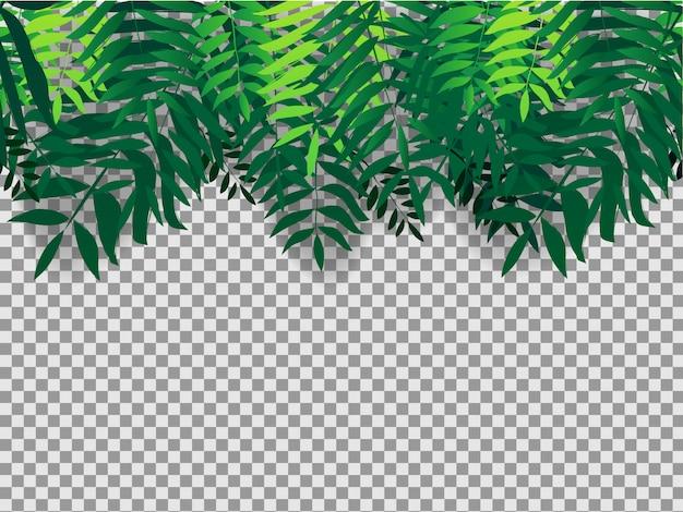 熱帯の木々とseamlesの背景 Premiumベクター