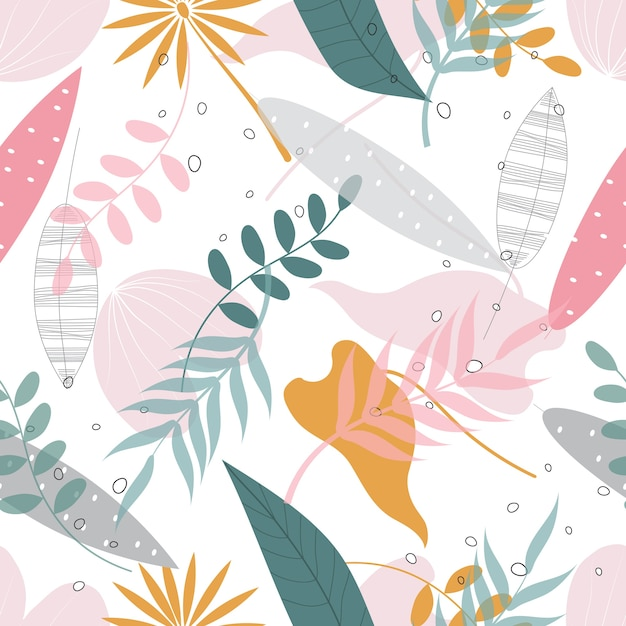 Seamless abstract floral surface  pattern background Premium Vector