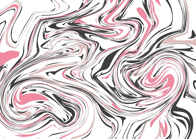 Seamless abstract marble pattern, luxury moving lines Premium Vector