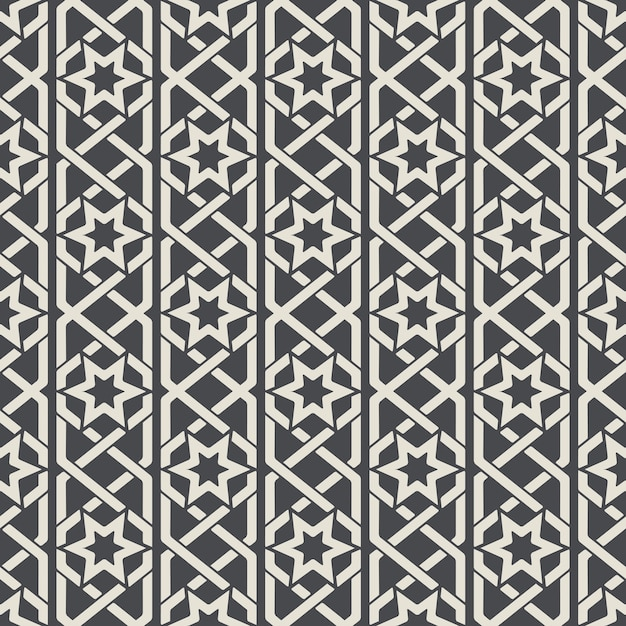 Seamless abstract ornamental pattern in arabic style. background seamless, arabic pattern, decoration textile pattern. vector illustration Free Vector