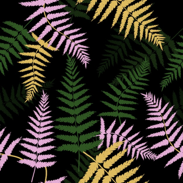 Seamless abstract tropical leaves pattern Premium Vector