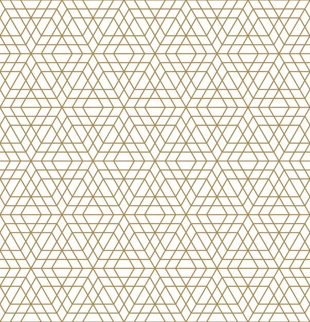 Безшовный арабский геометрический орнамент в коричневом цвете. Premium векторы