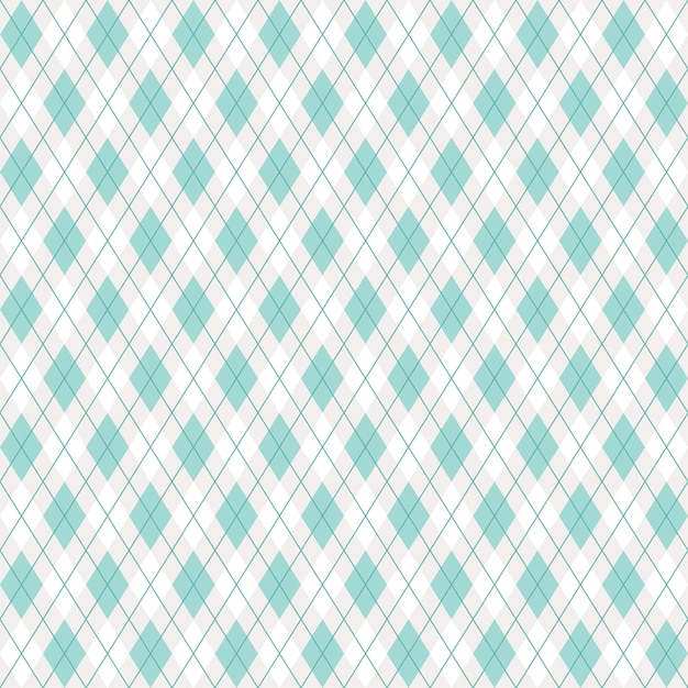 Seamless argyle plaid green pattern Premium Vector