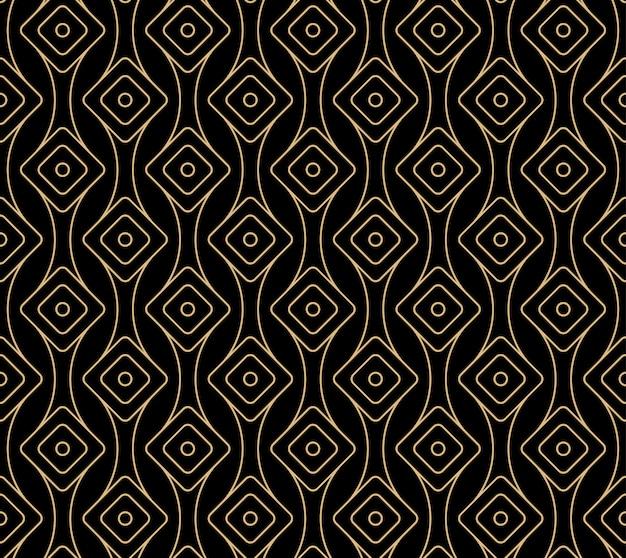 Seamless art deco pattern design Premium Vector