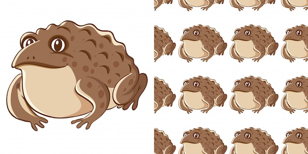 Seamless background design with brown toad Free Vector