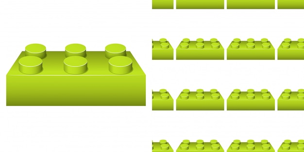 Seamless background design with many green blocks Premium Vector