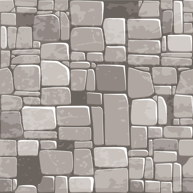 Seamless background texture grey stone wall Premium Vector