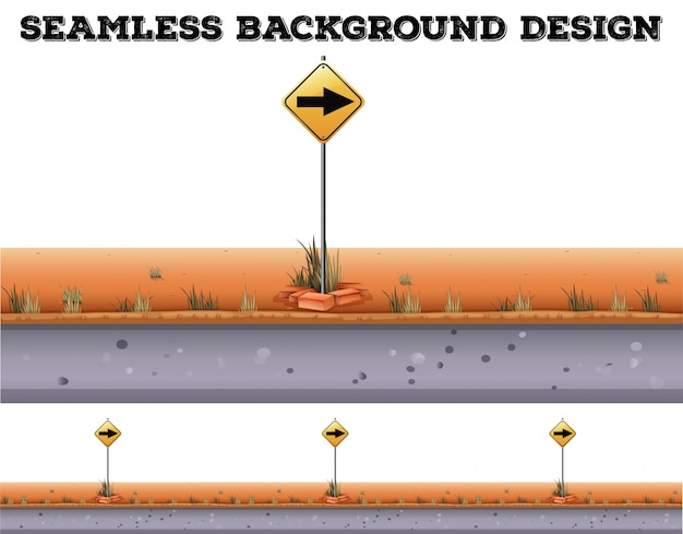 Seamless background with traffic sign Free Vector