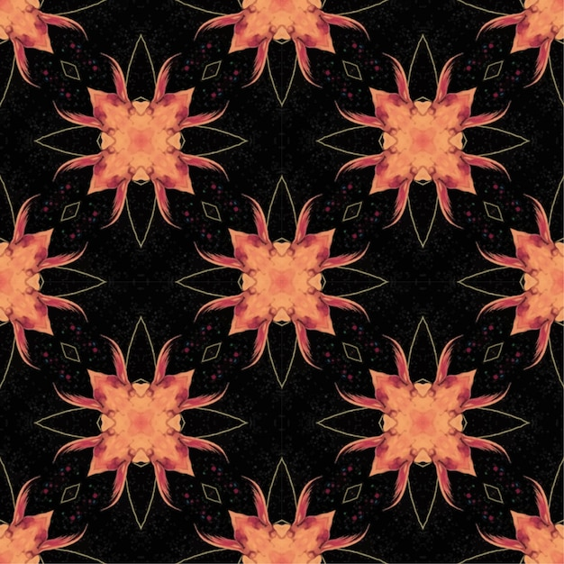 Seamless batik pattern , batik indonesian is a technique of wax-resist dyeing applied to whole cloth Premium Vector