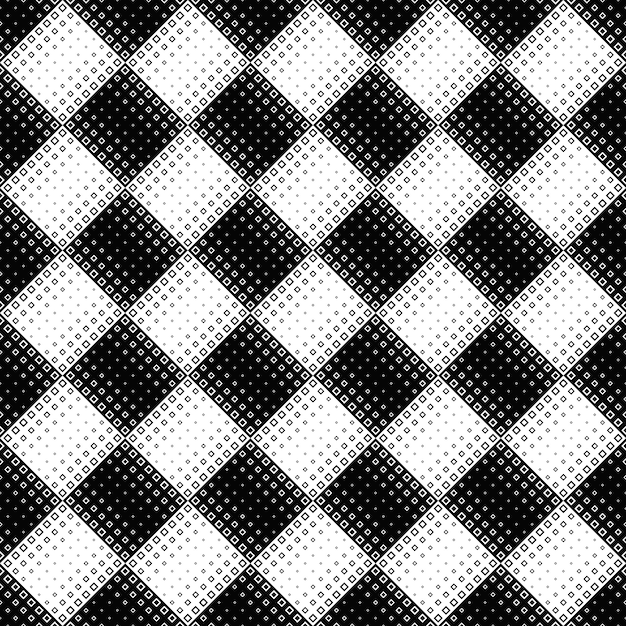 Seamless black and white diagonal square pattern background Premium Vector