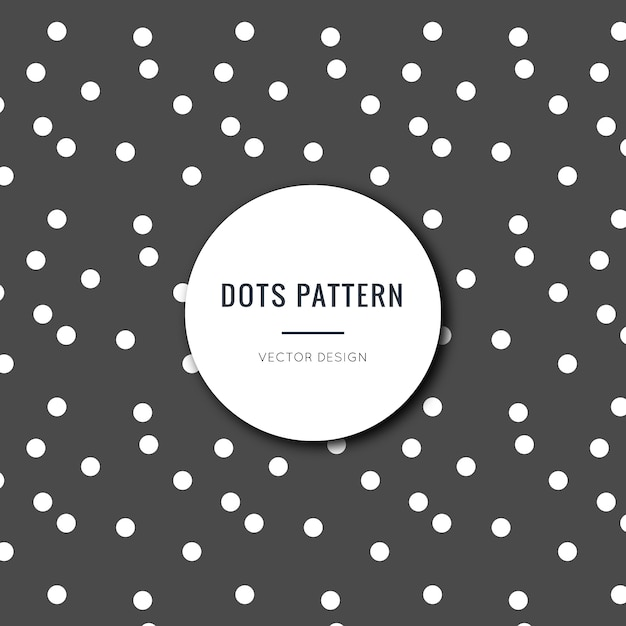 Seamless black and white polka dots pattern Free Vector