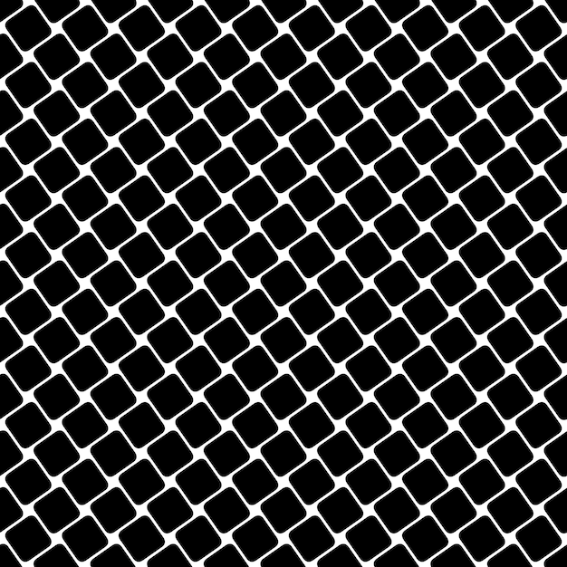 Seamless black and white square pattern - geometrical halftone abstract vector background graphic design Free Vector