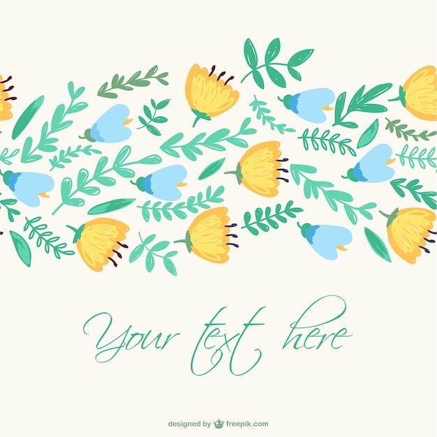 Seamless blue and yellow flowers pattern