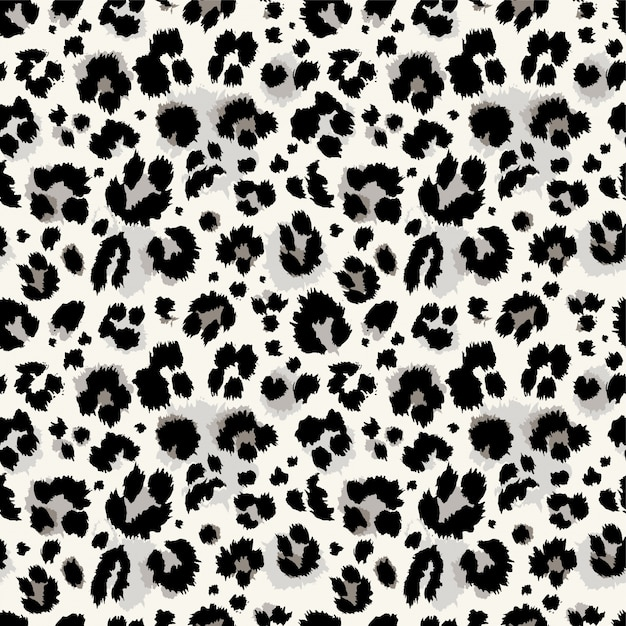 Seamless blue, turquoise leopard pattern Premium Vector