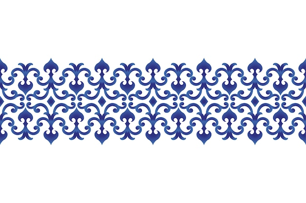 Seamless borders ornament japan and chinese style Premium Vector