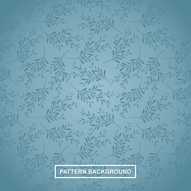 Seamless branch of a unique leaf-tree branch pattern Premium Vector