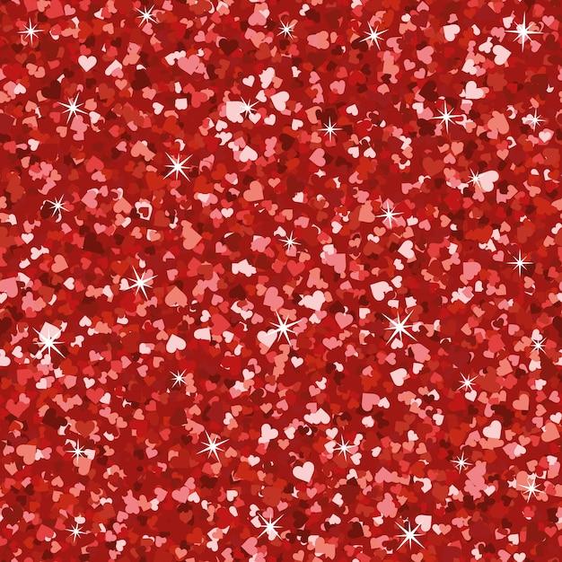 Seamless bright red glitter texture Premium Vector