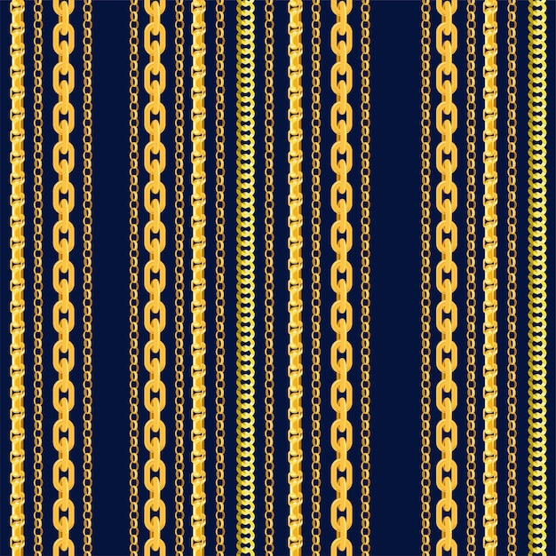 Seamless chain pattern Premium Vector